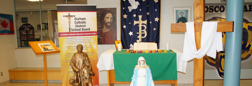 St. John Bosco Catholic School alter